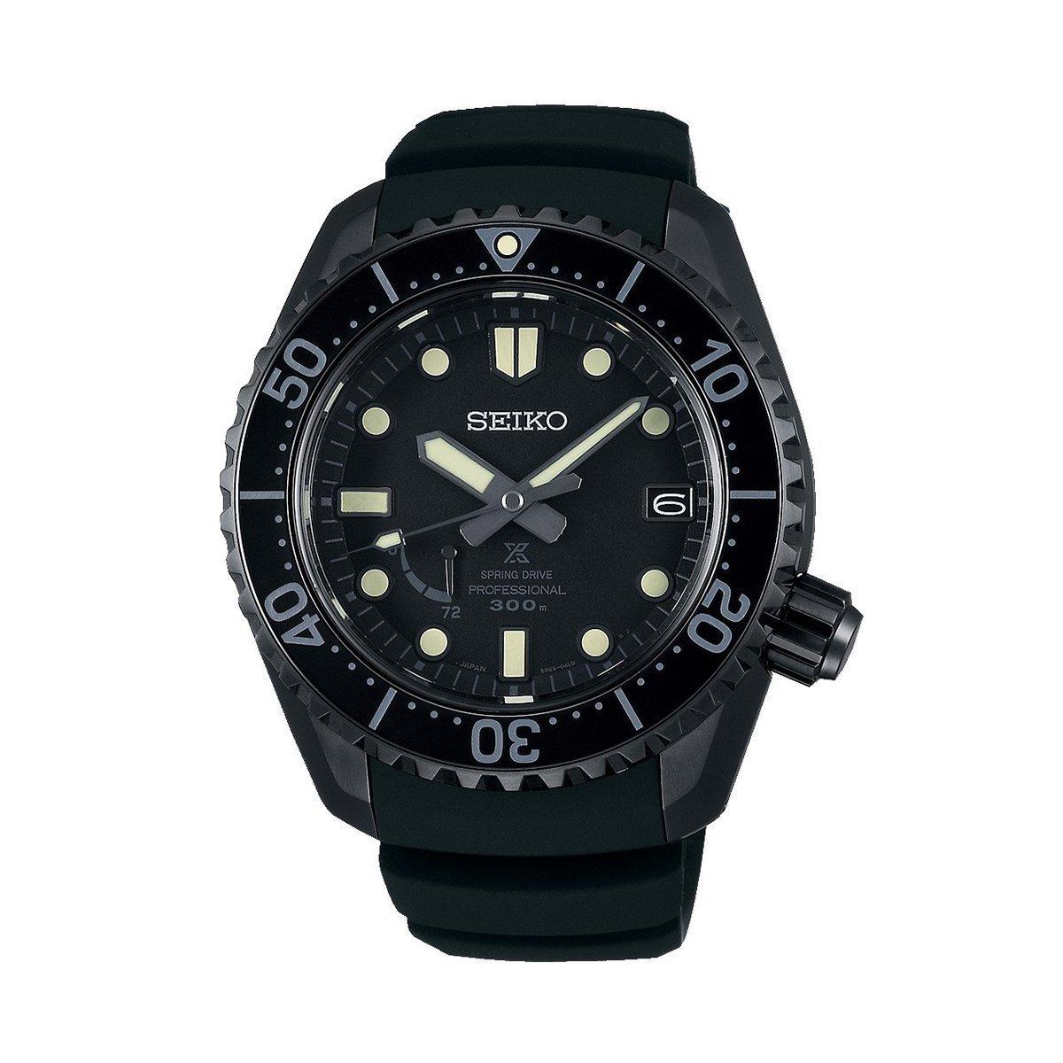 Montre Seiko Prospex Spring Drive Diver's Black Edition SNR031J1