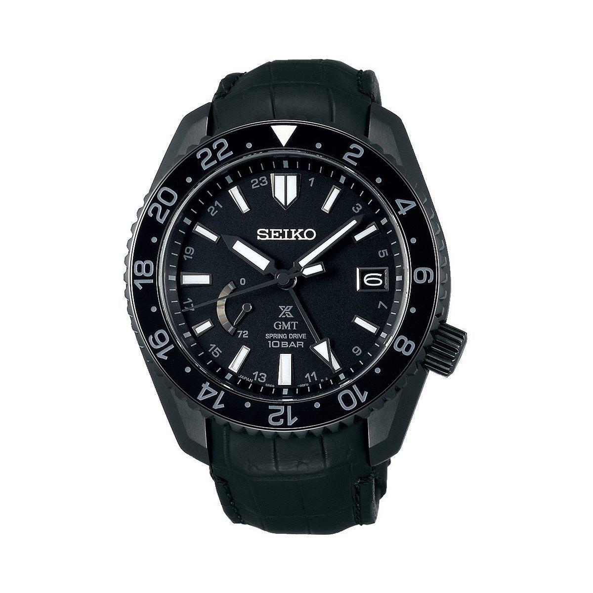Montre Seiko Prospex Spring Drive GMT Black Edition SNR035J1