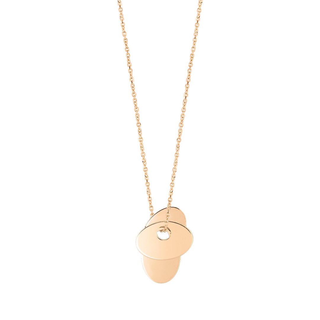 Collier GINETTE NY ELLIPSES & SEQUINS en or rose