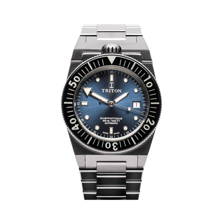 Montre Triton Subphotique Classique Atlantic Blue TR-01 vue 1