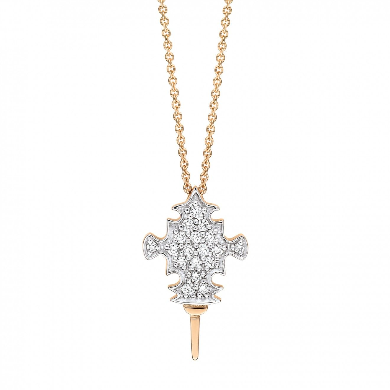 Collier GINETTE NY TANGER en or rose et diamants