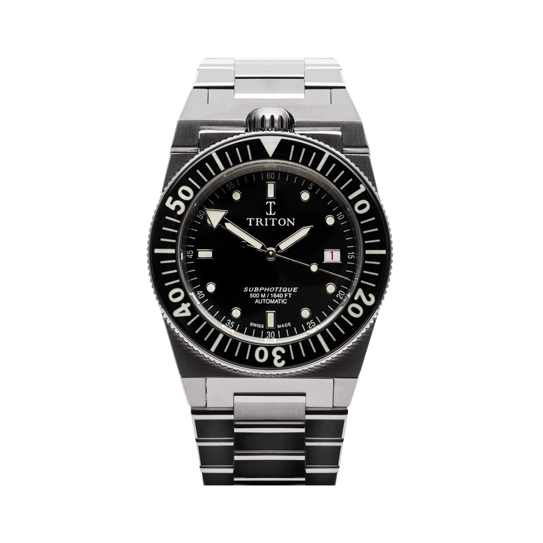 Montre Triton Subphotique Classique Classic Black TR-01 vue 1