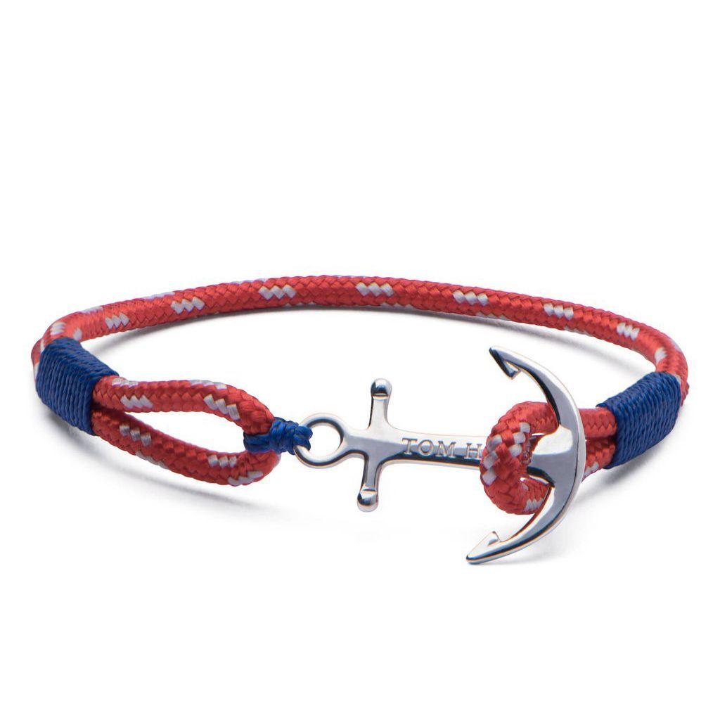 Bracelet Tom Hope Arctic Blue M rouge, bleu en argent vue 1