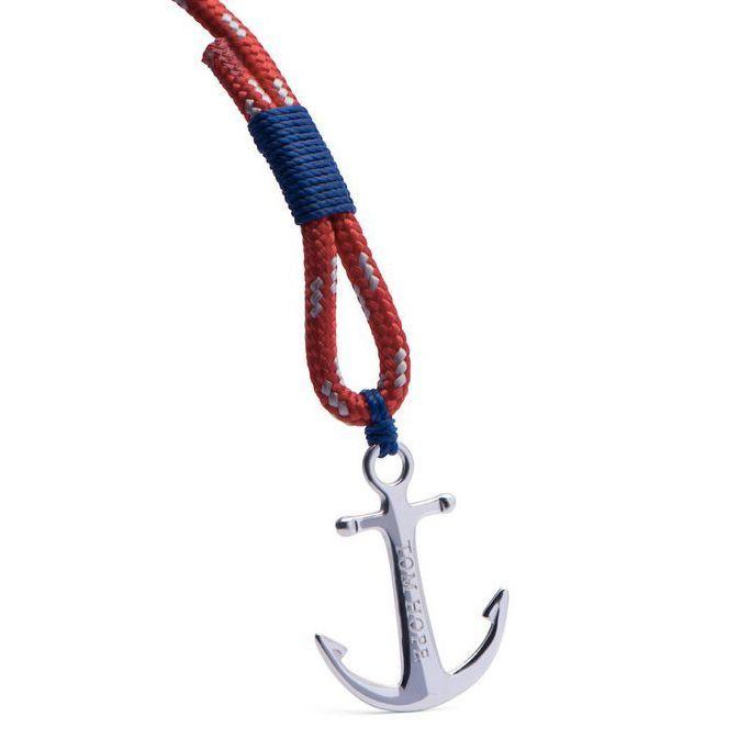 Bracelet Tom Hope Arctic Blue M rouge, bleu en argent vue 2