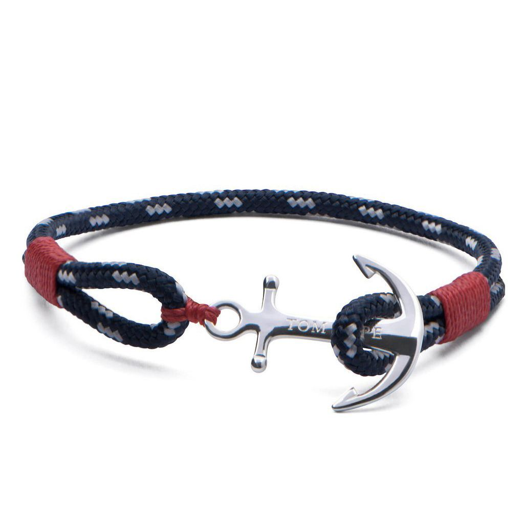Bracelet Tom Hope Atlantic Red L rouge, bleu en argent vue 1