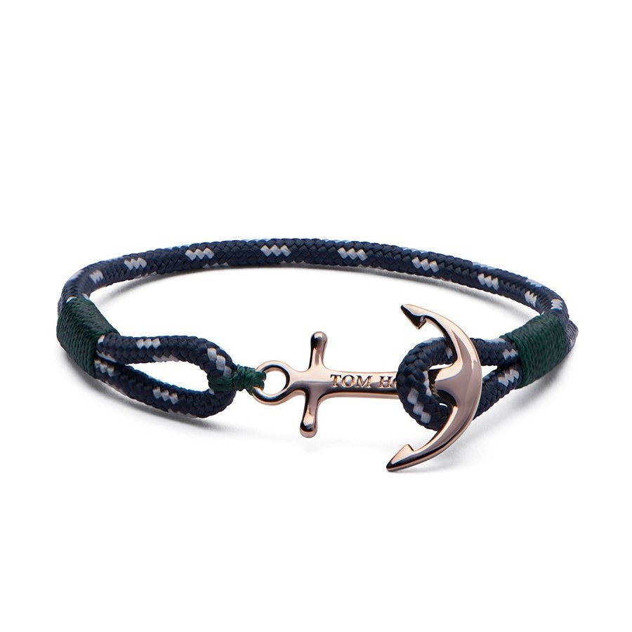 Bracelet Tom Hope Mediterranean M bleu, vert en plaqué or rose