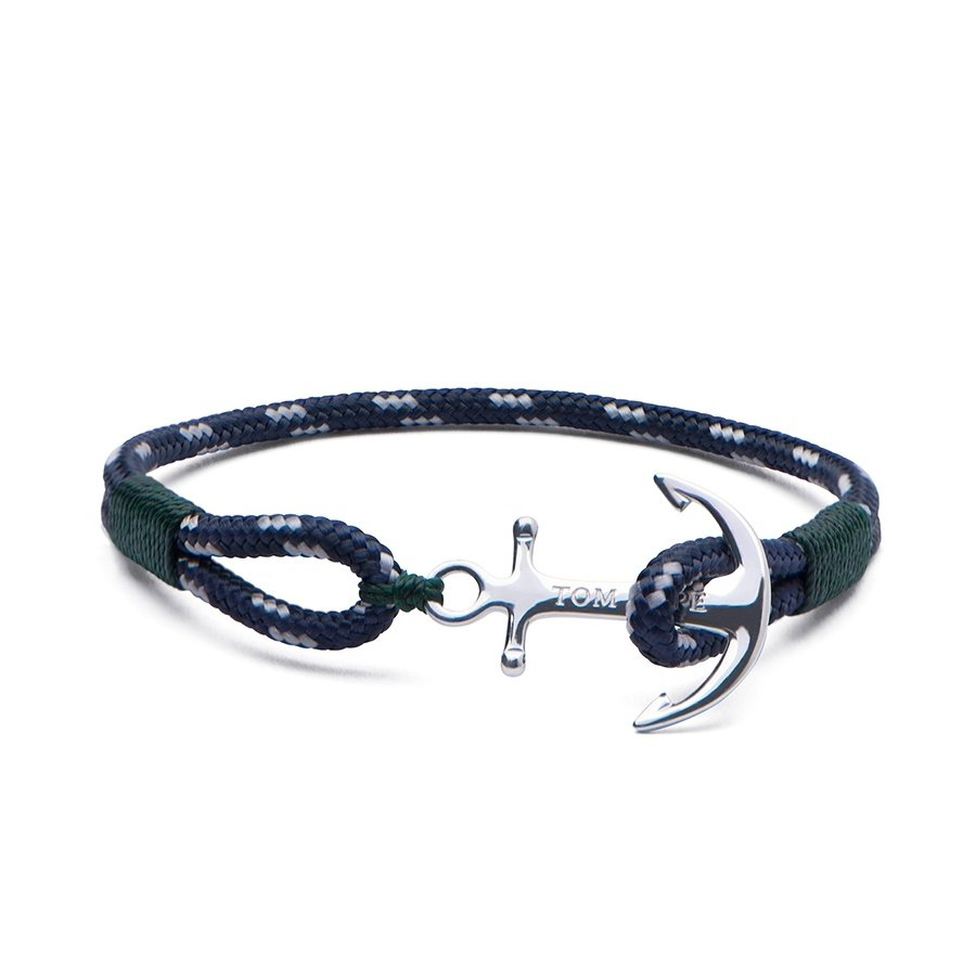Bracelet Tom Hope Southern Green XS bleu, vert en argent