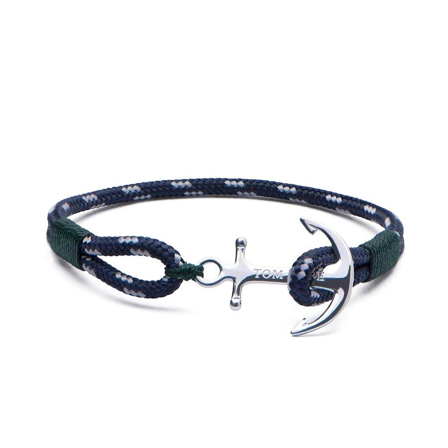Bracelet Tom Hope Southern Green M bleu, vert en argent