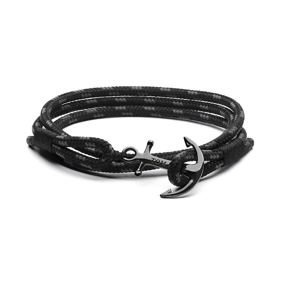 Bracelet Tom Hope Triple Black S noir en argent