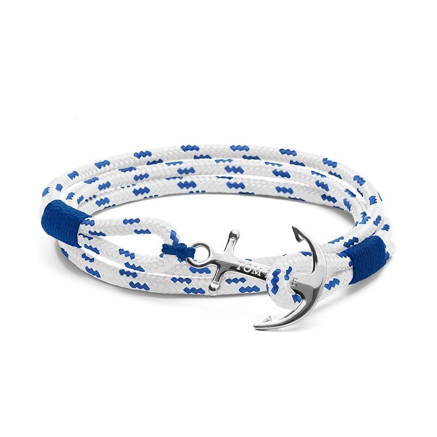 Bracelet Tom Hope Royal Blue M bleu, blanc en argent