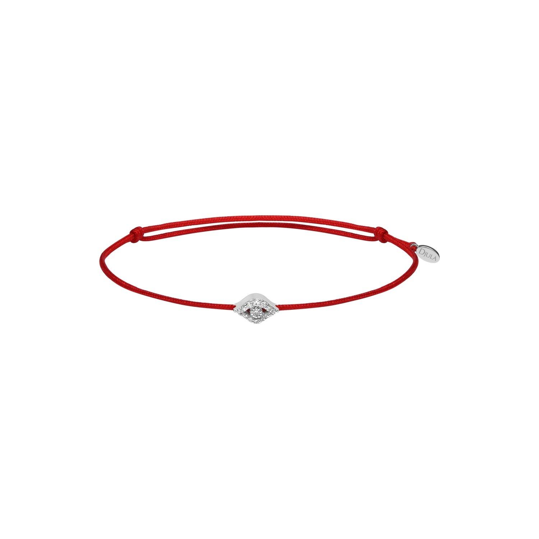 Bracelet Djula Fil Œil en or blanc et diamants