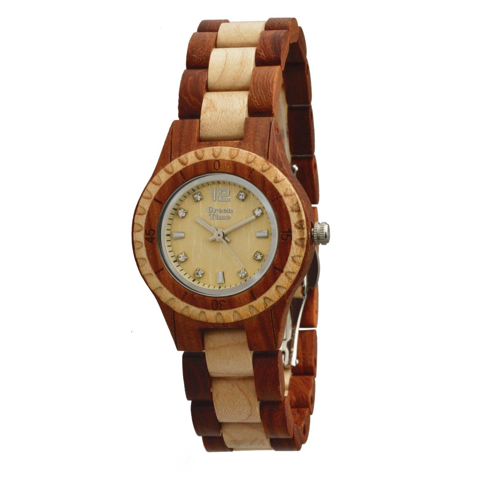Montre Green Time en bois de érable et santal ZW075A