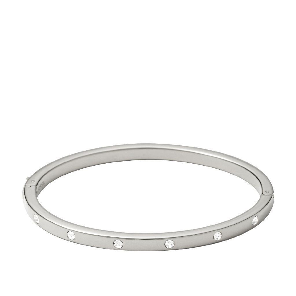 Bracelet Fossil en acier et cristal