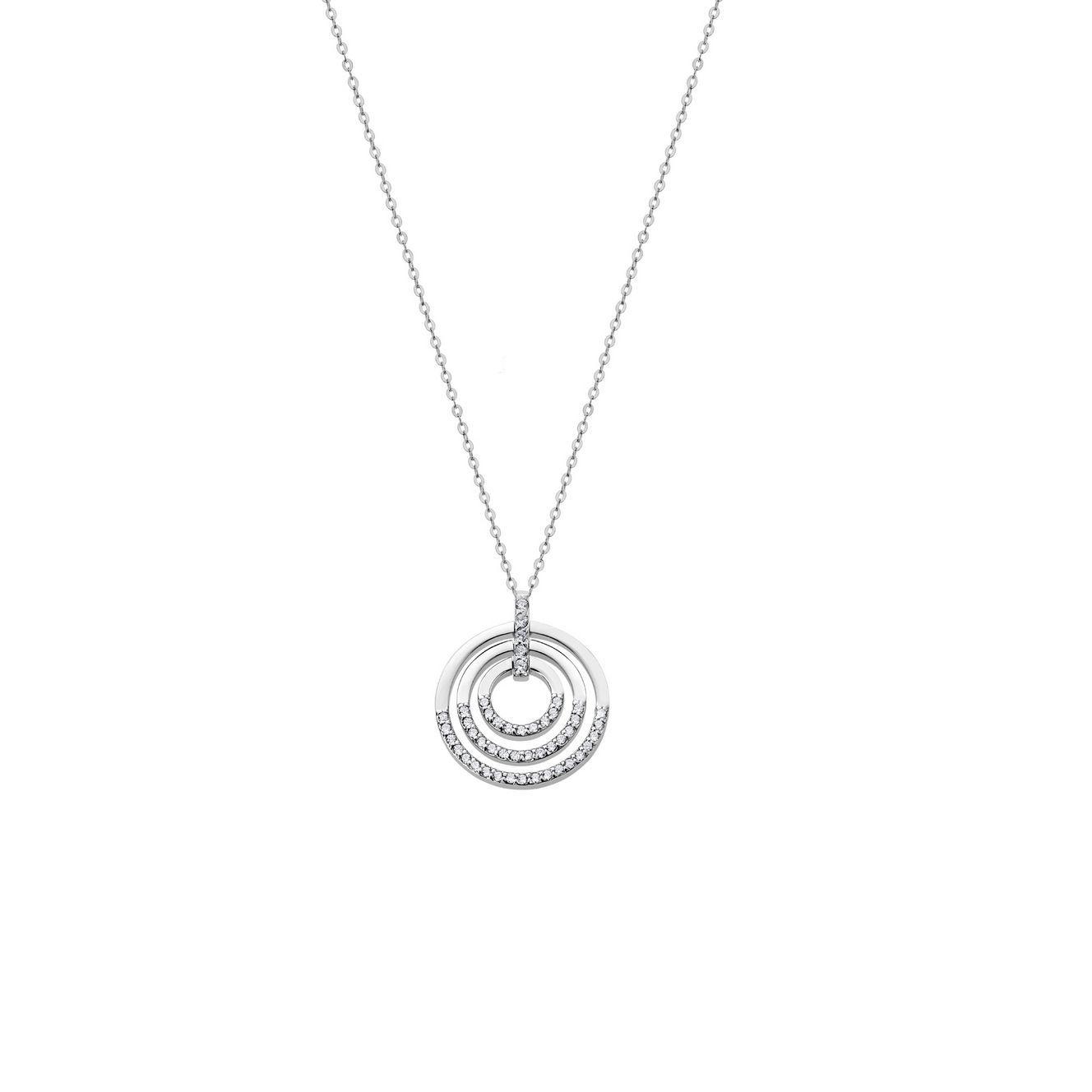 Collier Lotus Silver Pure Essential en argent et oxydes de zirconium